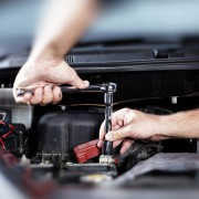 A picture of car maintenance