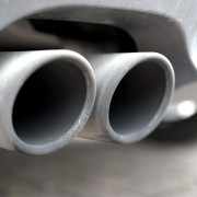 image of a close up car exhaust system