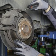 image of brake disc being repaired