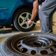 Image of man changing a tyre
